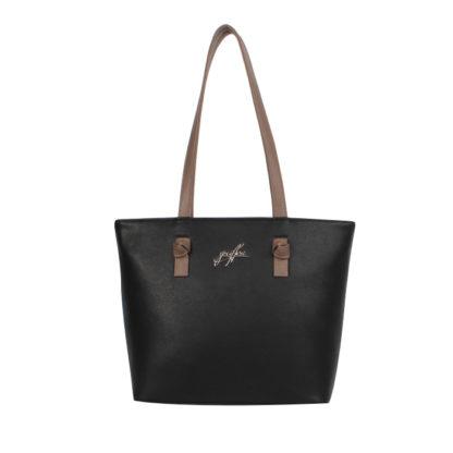 Женская сумка-шоппер Грифон черная, артикул 15С599