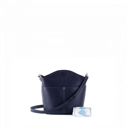 Сумка женская повседневная Грифон темно-синего цвета артикул 651