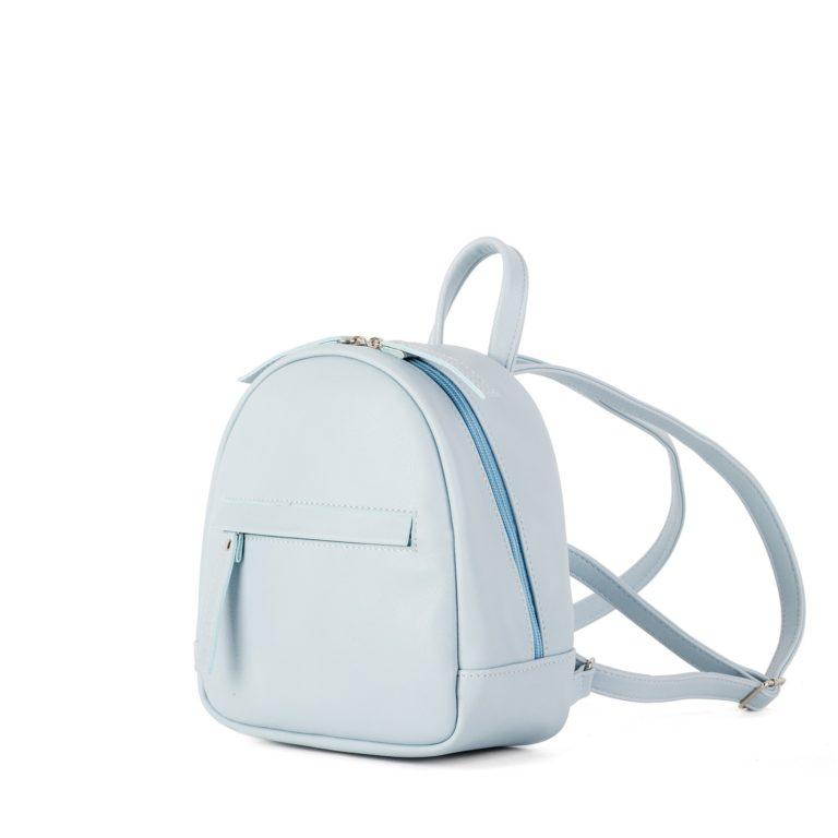 Рюкзак женский городской миниатюрный Грифон нежно-голубого цвета, артикул 666