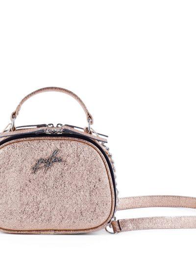 Маленькая сумка на цепочке через плечо Грифон нежного золотого цвета артикул 664