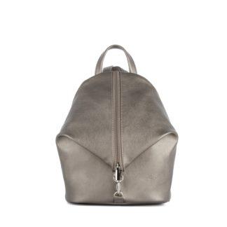Небольшой женский городской рюкзак Грифон блестящего бронзового цвета, артикул 653