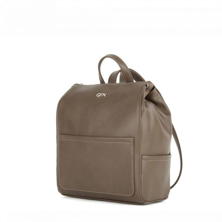 Небольшой женский городской рюкзак Грифон цвета хаки, коричневого, артикул 14С532