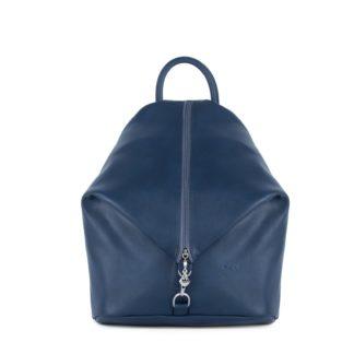 Небольшой женский городской рюкзак Грифон синего цвета, артикул 15С565