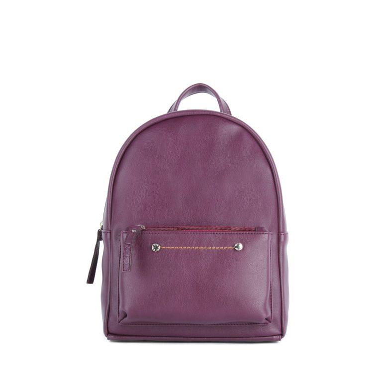 Небольшой женский городской рюкзак Грифон бордового цвета, артикул 655
