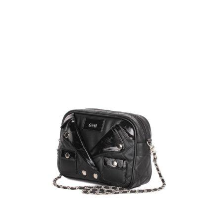 Небольшая оригинальная женская сумка Грифон в стиле куртки-косухи, артикул 14С559