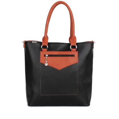 Женская сумка-шоппер Грифон черно-коричневого цвета, артикул 14С544