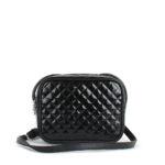 Небольшая женская стеганая сумка Грифон черного цвета, артикул 632