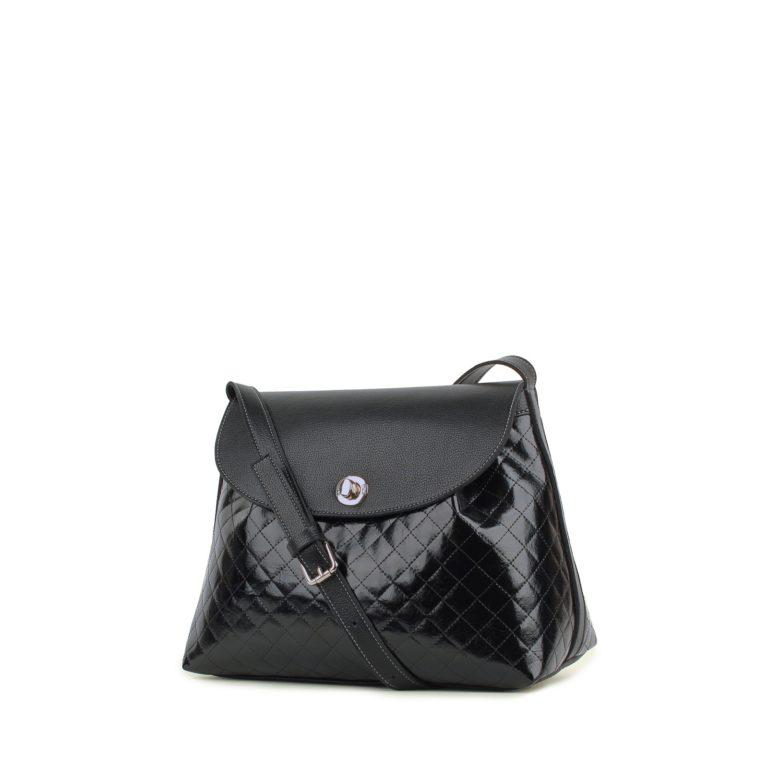 Небольшая женская стеганая сумка Грифон черного цвета, артикул 635