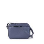 Маленькая сумка на ремешке через плечо 699 синий лоск